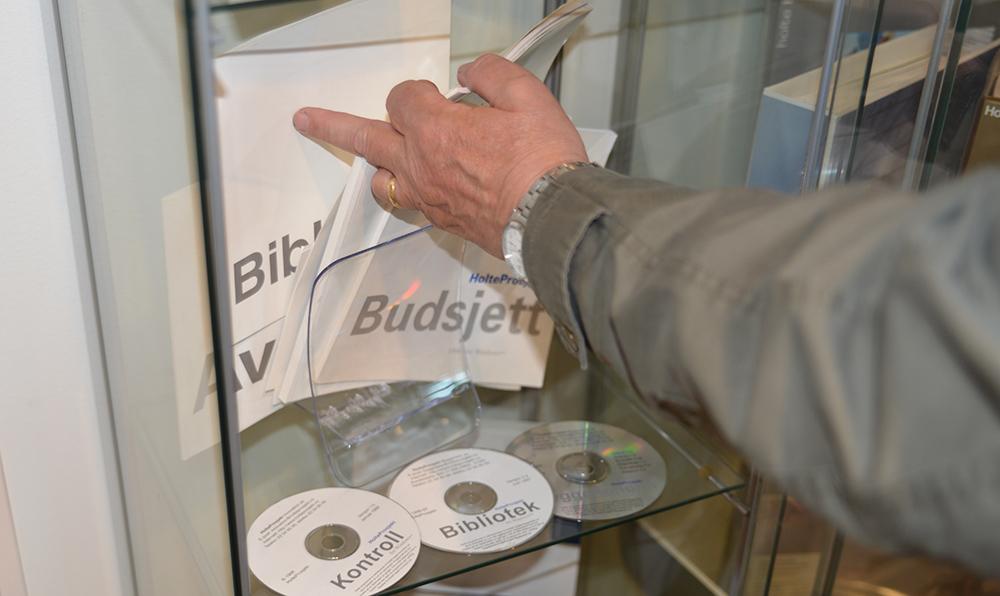 CD-er og PDF-er av Holte Prosjekt Bibliotek og Holte Prosjekt Kontroll