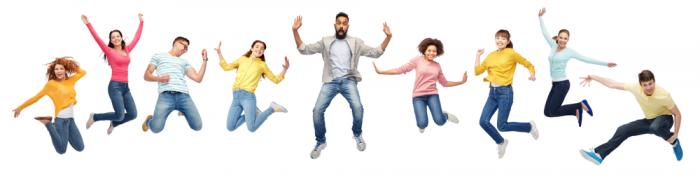 9 glade ungdommer