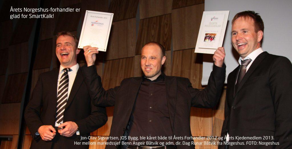Jon-Olav Sigvartsen, JOS Bygg, som ble kåret til årets forhandler 2012 og årets kjedemedlem 2013