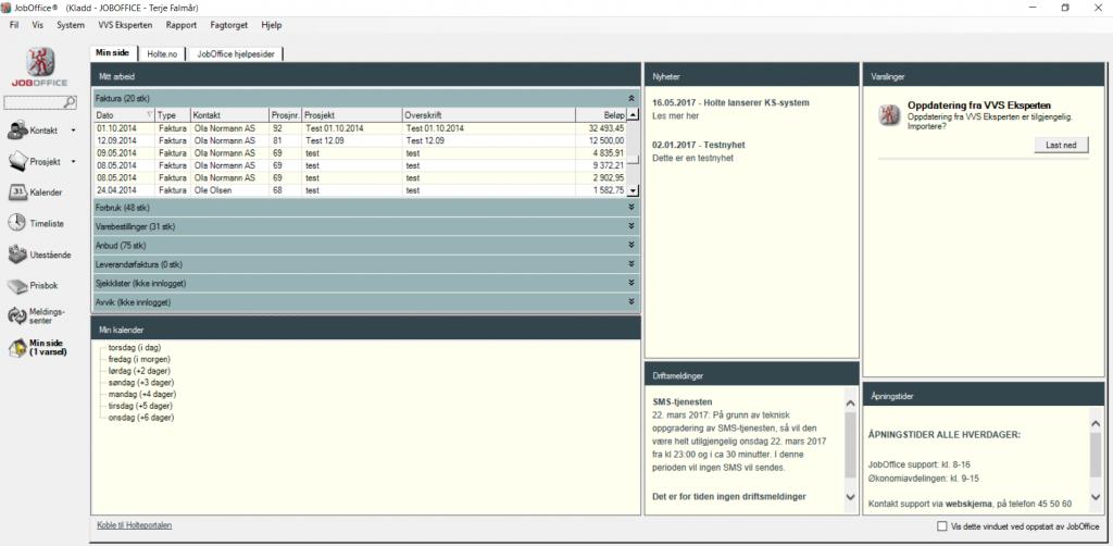 JobOffice på Desktop