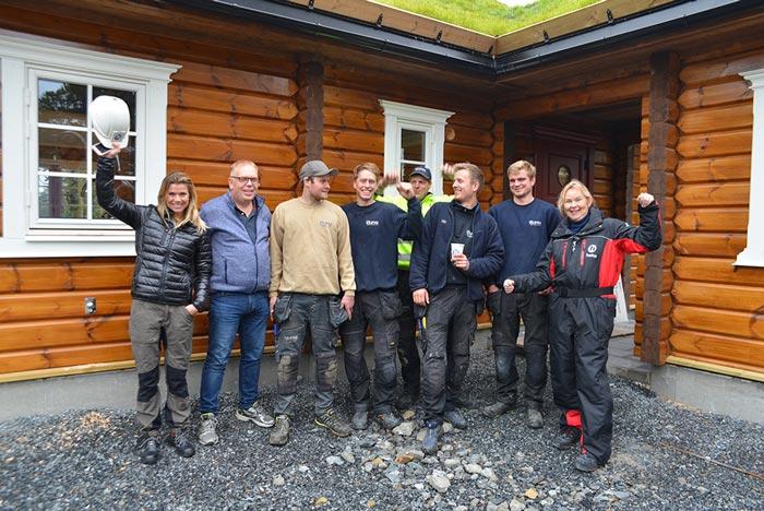 Holte på besøk på Kopperskjæret hyttefelt og Stilbygg Kongsberg