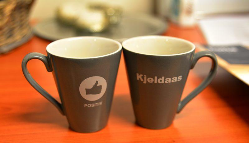Kopper med Kjeldaas-logo