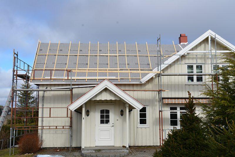 rehabilitering av tak på en enebolig
