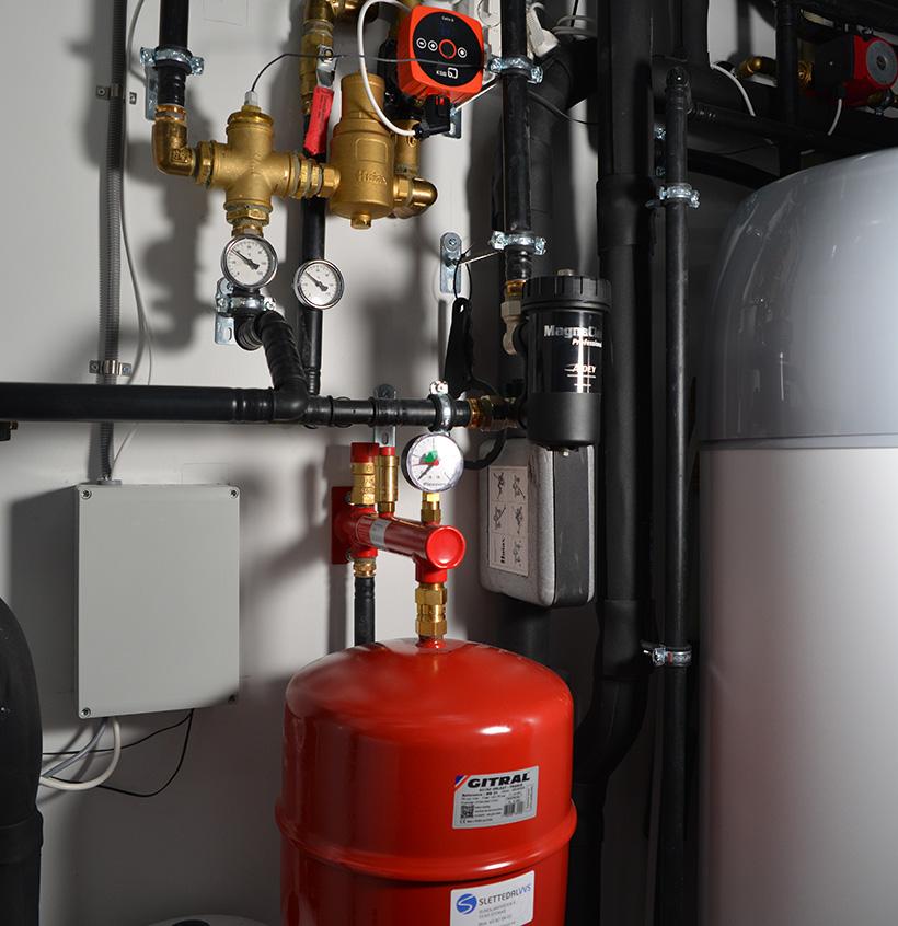 "Husets varmeanlegg styres via ""Future Home"" smarthus-system."