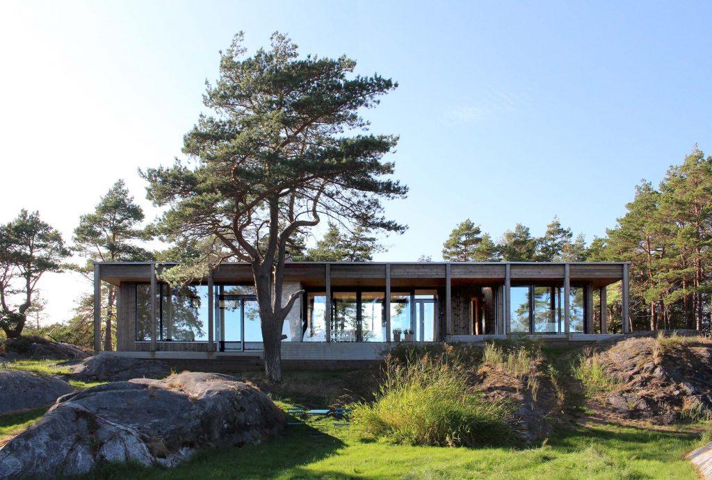 Hytte Risør, sommerhytte ved sjøen.