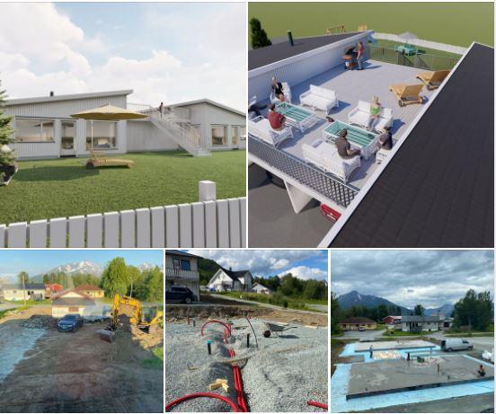Godkjent byggeprosjekt i Balsfjord i ferd med å ta form.