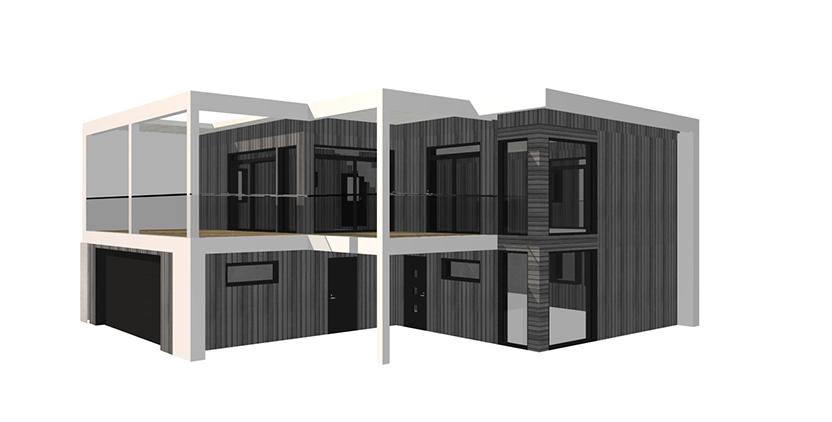 Boligtegning tegnet i DDS CAD