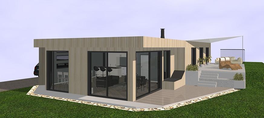 Hytte tegnet av JA Arkiekter i DDS CAD